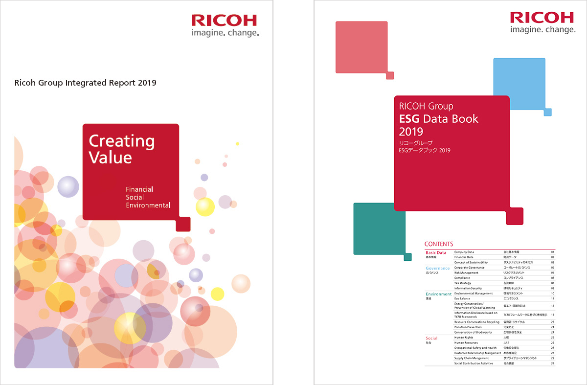 Ricoh Publishes the Ricoh Group Integrated Report 2019 and the Ricoh Group ESG Data Book 2019