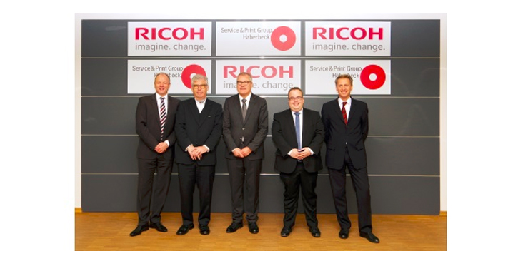 Haberbeck and Ricoh employees at Drupa