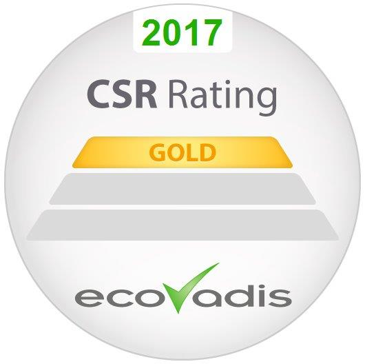 Ricoh awarded highest gold rating in EcoVadis global supplier